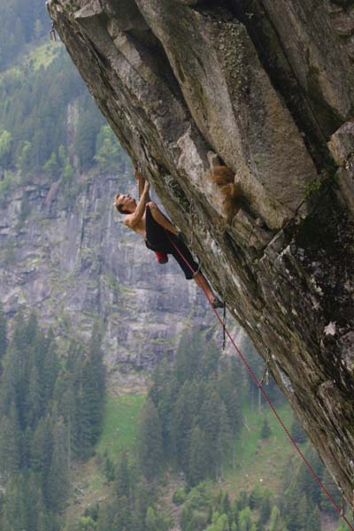 "Klotz Andi in ""Big Red"" (8a+), Foto: Kopp Daniel, Upload: Rocky8a"